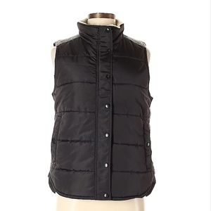 Black and Gray Puffy Vest